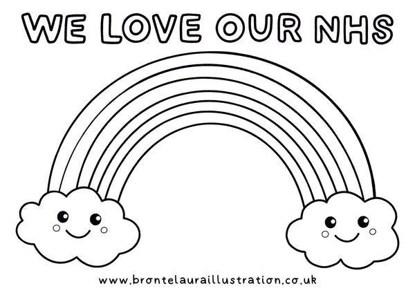 We Love Our NHS Rainbow Colouring In Sheet