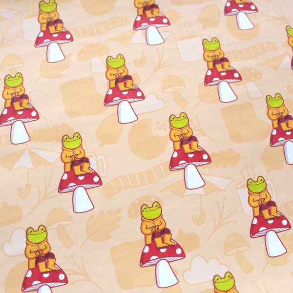A4 Autumn Frog Wrapping Paper