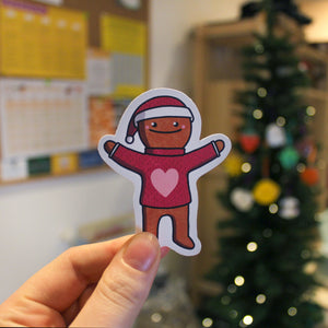 Christmas Gingerbread Man Sticker