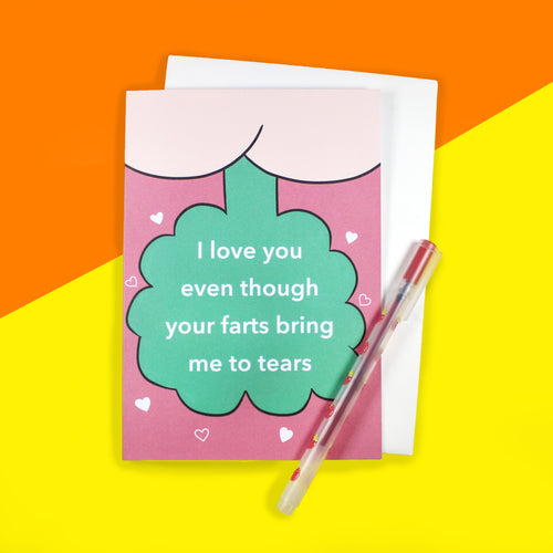Farty Valentines Card