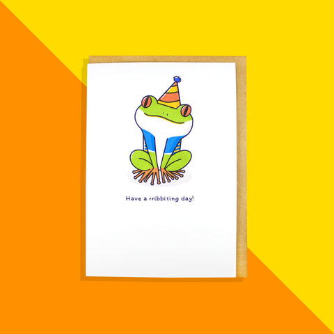 Frog Birthday Card