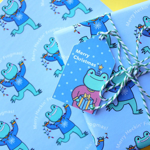 A4 Frogmas Wrapping Paper