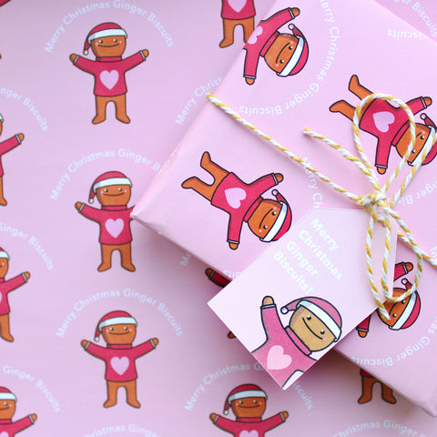 A4 Gingerbread Man Wrapping Paper