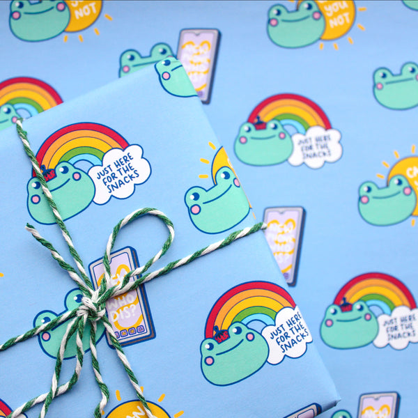 A4 Honest Frog Wrapping Paper