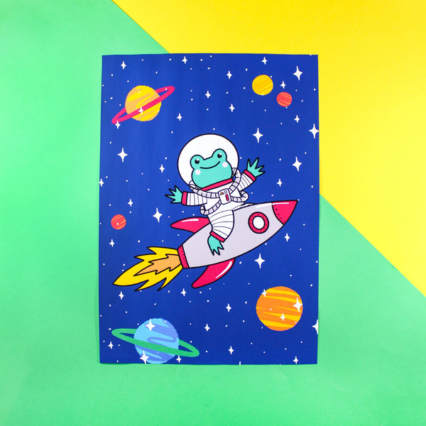 Apollo the Rocket Frog Print