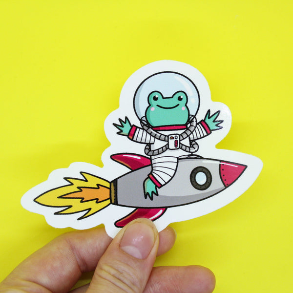 Apollo the Rocket Frog Sticker