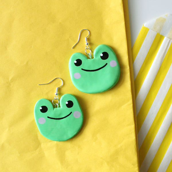 Jumbo Frog Earrings