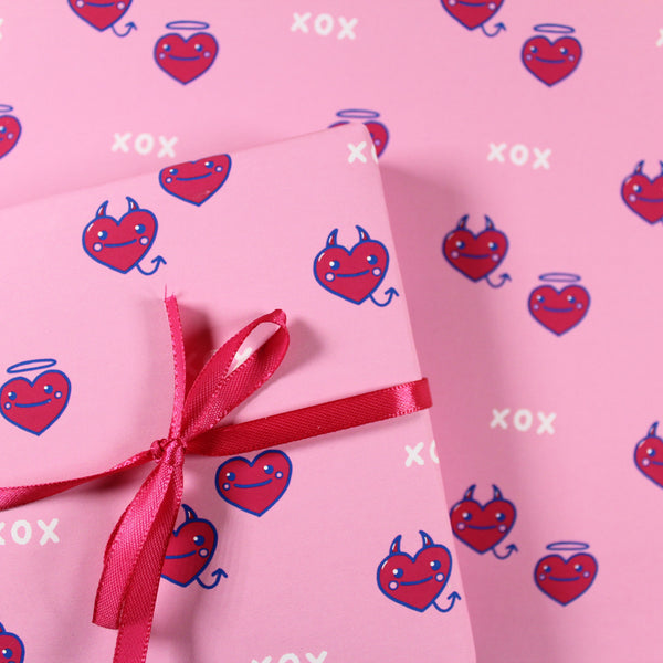 A4 Hearts Wrapping Paper