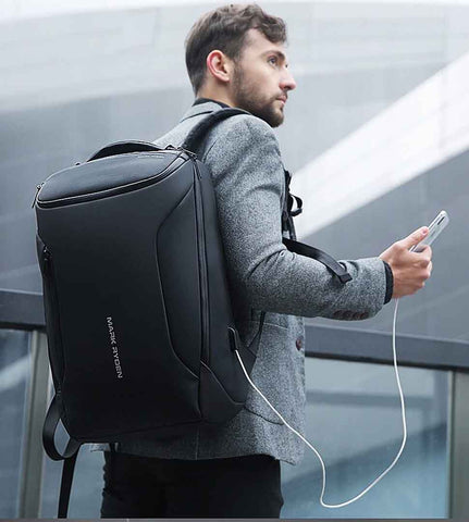 ezgif 1 be64d21692d3 large - Mark Ryden 2019 New Anti-thief Fashion Men Backpack Multifunctional Waterproof 15.6 inch Laptop Bag Man USB Charging Travel Bag