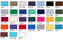 American Apparel Unisex Tee Colors