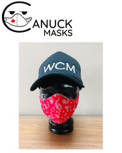 Face Masks - Classic Red Paisley