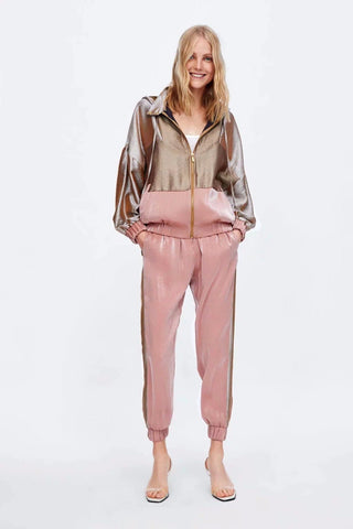 SATIN JOGGING JACKET AND TROUSER - Zara - RishWish