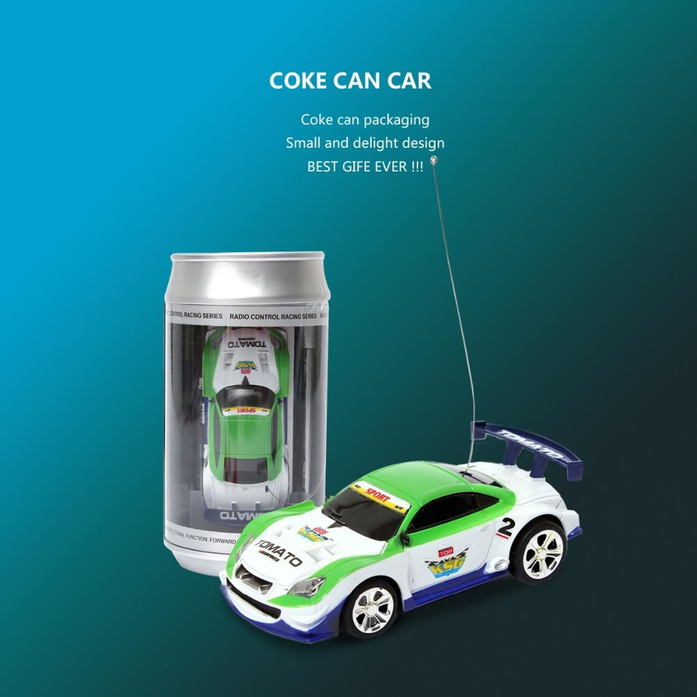 Mini RC Car In A Can with 4 road blocks- Great Gift for Car Lovers- It Races - RishWish