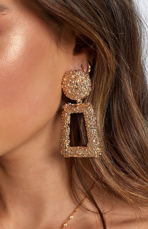 Eclat Cleopatra Earrings Gold and Silver - RishWish
