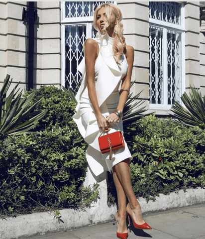 Dory White Midi Dress - RishWish