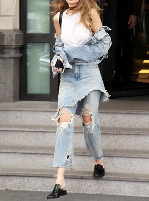 Denim-on-Denim Jeans Like Gigi Hadid's - RishWish