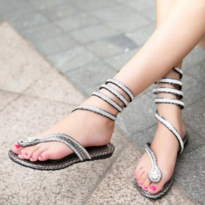 Luxury Crystal Women Sandals /Gladiator - RishWish