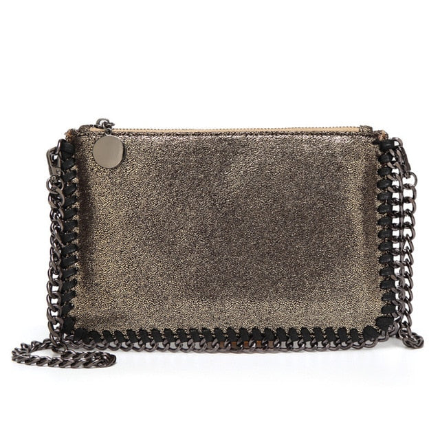 Louella METALLIC MESH - Clutch OR Clutch Bag - RishWish