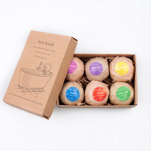 Organic Bath Bombs Gift Set-  Spa Bomb Fizzies-Handmade with Natural Ingredient, Perfume and Essential Oil-Best Gift - RishWish