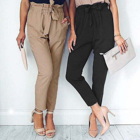 High Waisted Slim Harem Pant - RishWish