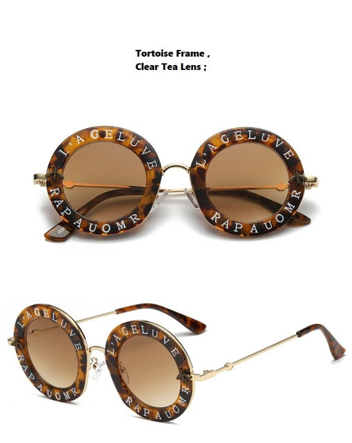 Round-frame Gucci Inspired Metal Sunglasses- Blind For Love - RishWish