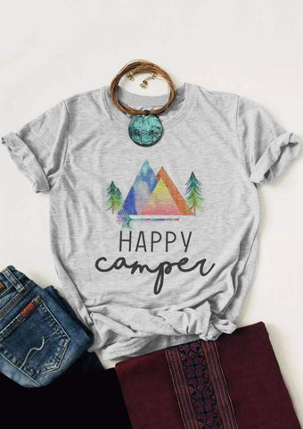 Happy to be Camping T shirt - RishWish