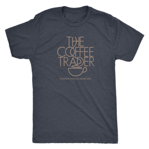The Coffee Trader Vintage Tee Men's in color vintage navy