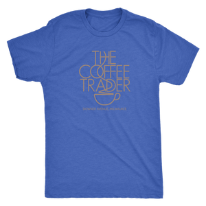 The Coffee Trader Vintage Tee Men's in color vintage royal