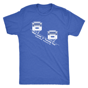 Atwater Beach Cable Cars Vintage Tee Men's in color vintage royal