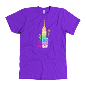 Milwaukee Pride City Hall Tee Men's in color purple
