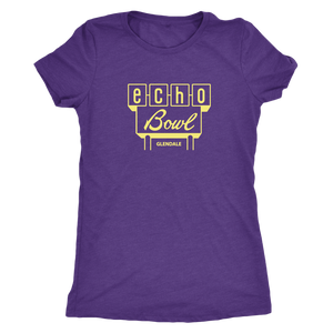Echo Bowl Glendale Vintage Tee in Retro Yellow Women's in color purple