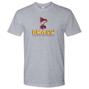 Brass' Hi-Fi Lounge vintage t-shirt 100% cotton men's in color heather grey