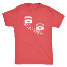 Atwater Beach Cable Cars Vintage Tee Men's in color vintage red