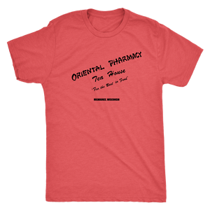 Oriental Pharmacy Tea House Milwaukee vintage t-shirt in color vintage red
