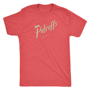 Petroff's Vintage Tee Men's in color vintage red