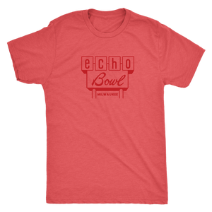 Echo Bowl Vintage Tee Men's in color vintage red