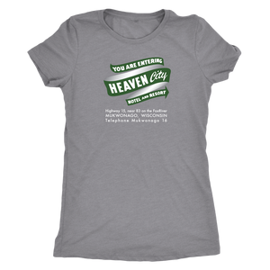 Heaven City Hotel Vintage Tee Women's in color vintage grey