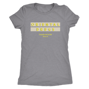 Oriental Drugs Vintage Tee Women's in color vintage grey
