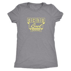 Echo Bowl Vintage Tee in Retro Yellow Women's in color vintage grey
