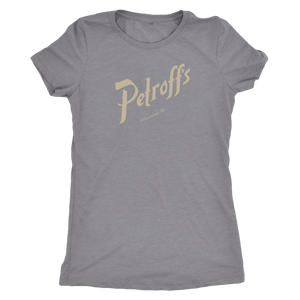 Petroff's Vintage Tee Women's in color vintage grey