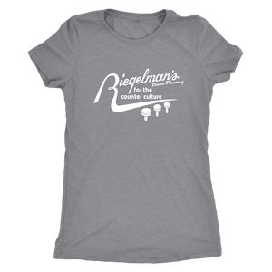 Riegelman's Downer Pharmacy Vintage Tee Women's in color vintage grey