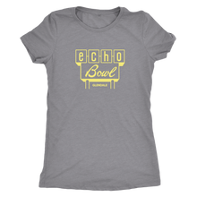 Echo Bowl Glendale Vintage Tee in Retro Yellow Women's in color vintage grey