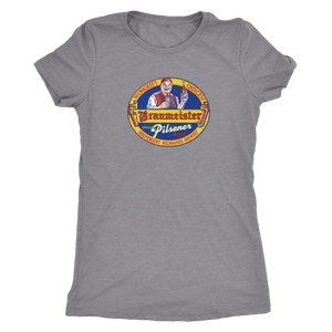 Independent Milwaukee Brewery Braumeister Pilsner Vintage Tee Women's in color vintage grey