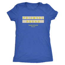 Oriental Drugs Vintage Tee Women's in color vintage royal
