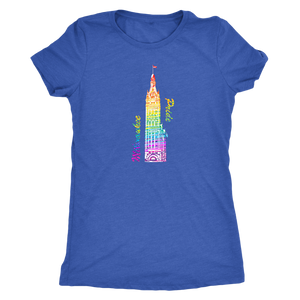 Milwaukee Pride City Hall Tee Women's in color vintage royal