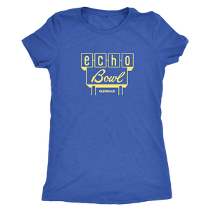 Echo Bowl Glendale Vintage Tee in Retro Yellow Women's in color vintage royal
