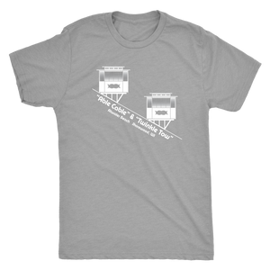 Atwater Beach Cable Cars Vintage Tee Men's in color vintage grey
