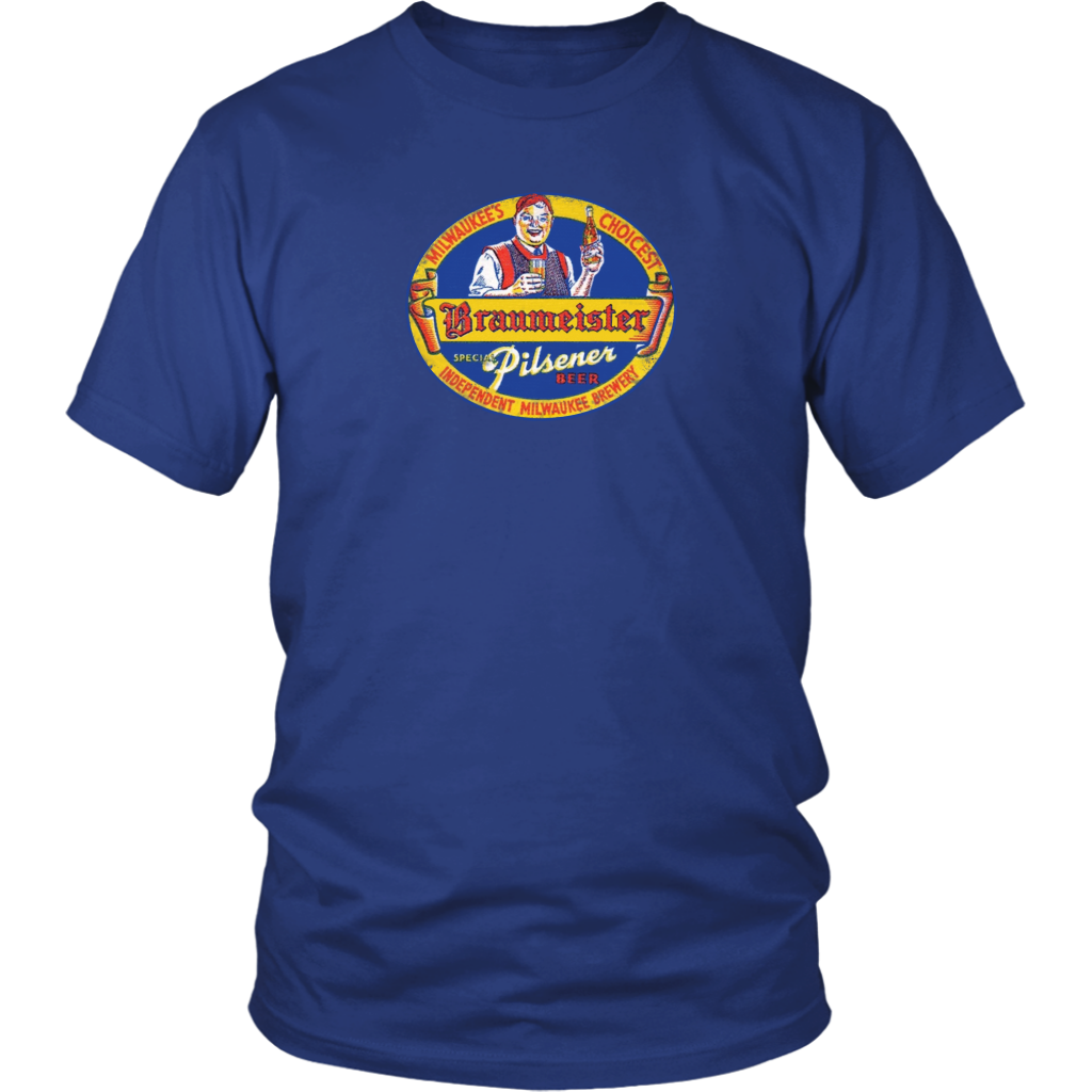 Braumeister Pilsner All Cotton Vintage Tee Men's in color royal