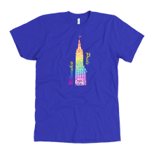 Milwaukee Pride City Hall Tee Men's in color royal