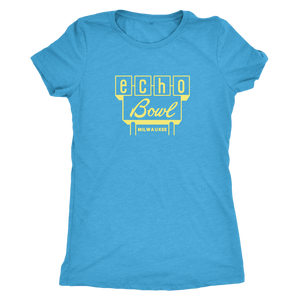 Echo Bowl Vintage Tee in Retro Yellow Women's in color vintage turquoise